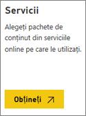 Captură de ecran: Alegeți serviciile să se conecteze la Microsoft AppSource