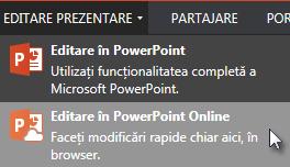 Deschidere în PowerPoint Online