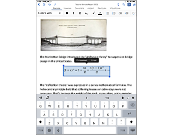 Document Word cu ecuații