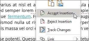 Faceți clic dreapta pe modificare