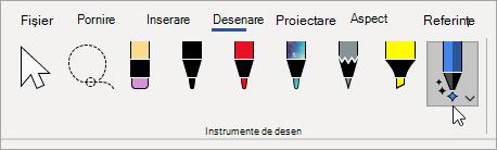 Selectați instrumentul Editor cerneală