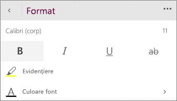 Modificați setările de font.