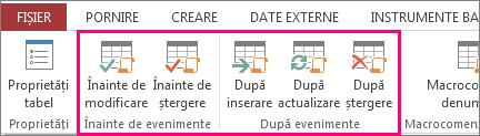 Adăugați macrocomenzi de date generate de evenimente