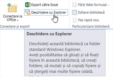 SharePoint 2016 deschidere cu Explorer în IE11