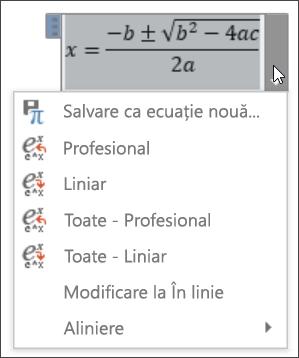 Ecuație toate liniară