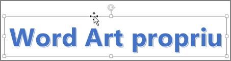 WordArt cu un cursor săgeată cu patru capete