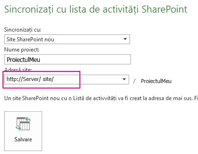 Sincronizarea la o nouă imagine de site SharePoint