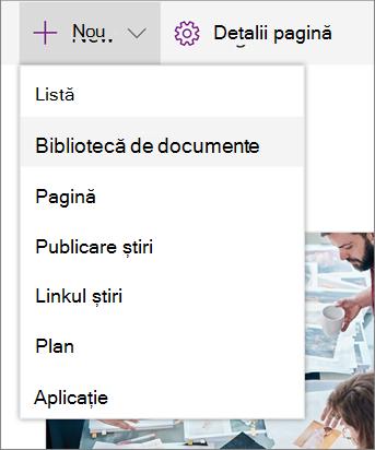 SPO Adăugarea unei liste sau a unei biblioteci