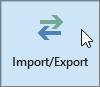 Captură de ecran a butonului de Import/Export în Outlook 2016