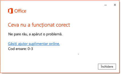 Codul de eroare 0-3