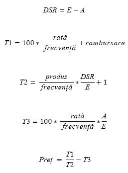 Formula PRICE atunci când N <= 1
