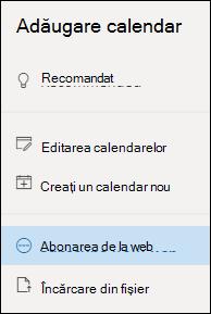 Abonarea la un calendar