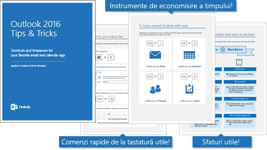 Outlook 2016 sfaturi și trucuri pentru coperta electronică, paginile din care arată câteva sfaturi