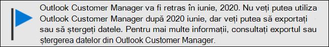 Outlook Customer Manager-sfârșit de asistență în iunie, 2020