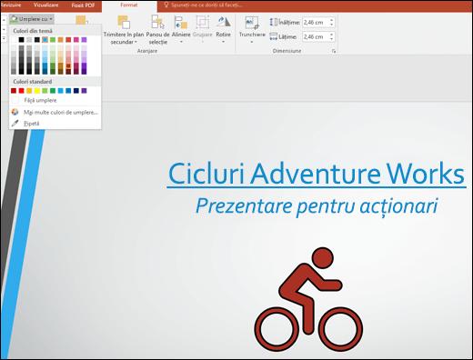Utilizarea instrumentului Umplere grafică pentru a schimba culoarea imaginii SVG