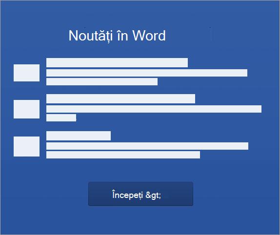 Începeți să activați Word 2016 pentru Mac