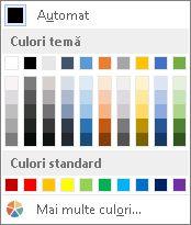Culoare bordură tabel
