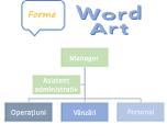 Forme, SmartArt și WordArt