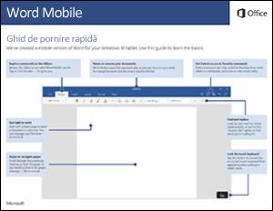 Ghid de pornire rapidă Word Mobile