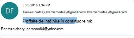 Puteți să editați linia subiect a unui mesaj primit.