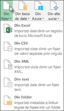 Power Query din fișier dialog