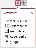 Editare tabel