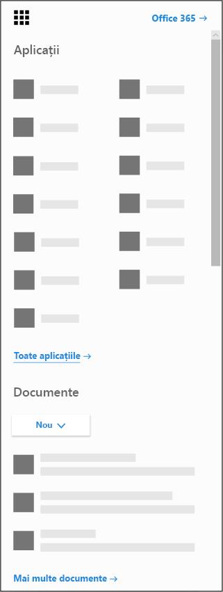 Lansatorul de aplicații Office 365