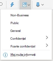 Butonul sensibilitate și meniul vertical din Office pe web