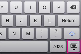 Ascunderea tastaturii