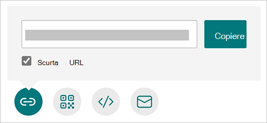 Opțiunea scurtare URL din Microsoft Forms
