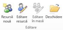 Resurse de editare grup în PWA