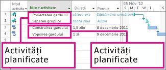 Manual și automat programarea activităților explicate