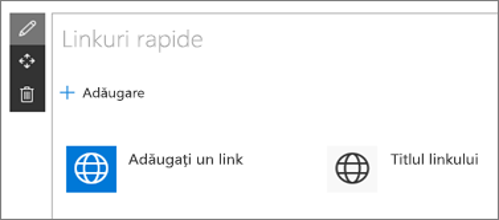 Parte web Linkuri rapide
