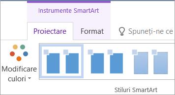 Butonul Modificare culori din fila Instrumente SmartArt - Proiectare