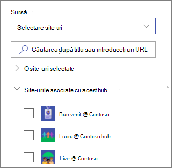 Selectați site-uri