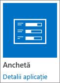 Pictograma aplicației Survey inclusă în SharePoint