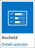 Anchetă pictogramă aplicație incluse în SharePoint