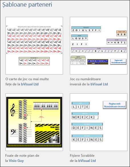 Patru miniaturi de șabloane pentru educație Visio de la distribuitori terți