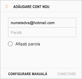 Adresa de e-mail și parola