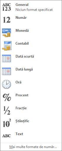 Galerie de format de număr