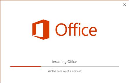 Programul de instalare Office arată ca și cum ar instala Office, dar instalează doar Skype for Business.