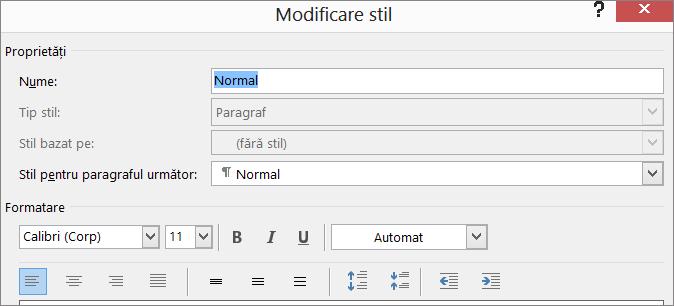 Modificare format stil din Word
