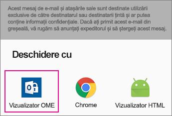 Vizualizator OME cu Gmail pe Android 2