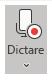 Afișarea pictogramei Dictare după selecție