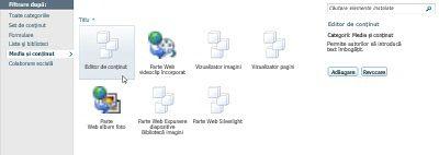 Caseta de dialog Mai multe părți Web