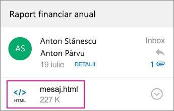 Vizualizator OME cu Outlook pentru Android 1