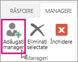 Adăugați un manager