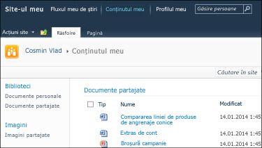 Site-ul meu SharePoint 2010