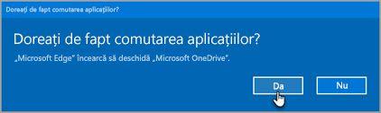 Solicitare de aplicații Office 365 comutare