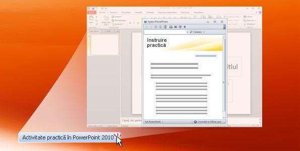 Activitate practică în PowerPoint 2010